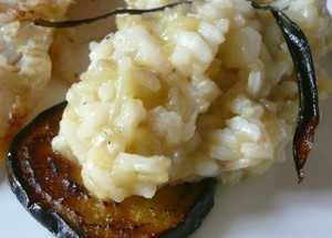 risotto aubergine