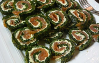 roulés épinards saumon boursin