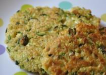 Galettes de quinoa et courgette