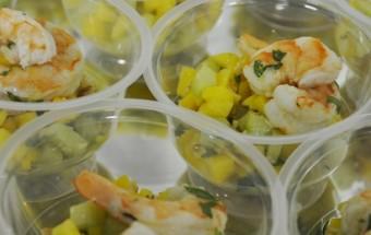 salade mangue concombre crevette