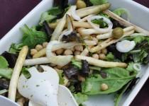 Salade aux asperges poêlées et pois chiches